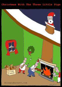 cartoon xmas pigs watermark
